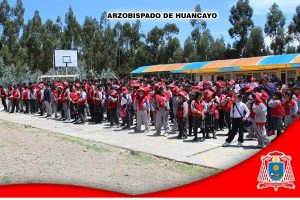 Visita a la Institución Fe y Alegría, ubicado en Huasquicha, provincia de Jauja