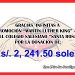 """Apoyo solidario de la Promoción """"Martín Luther King"""" – 1968, del Colegio Salesiano """"Santa Rosa"""""""